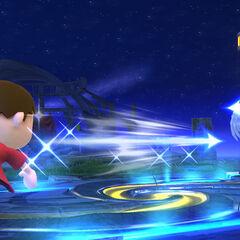Pose beta de Pit al disparar una flecha en Super Smash Bros. para Wii U