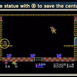 ¡Libera al Icario arquero golpeando la estatua (B)!