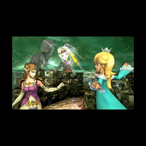 Viridi al fondo del Bosque Génesis en Super Smash Bros. para 3DS