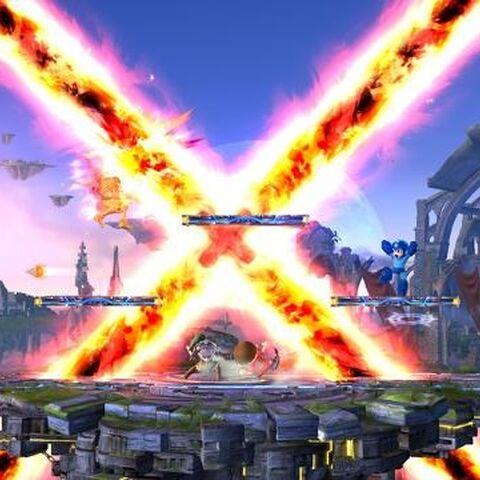 La explosión de la bomba en Super Smash Bros. (3DS/Wii U)