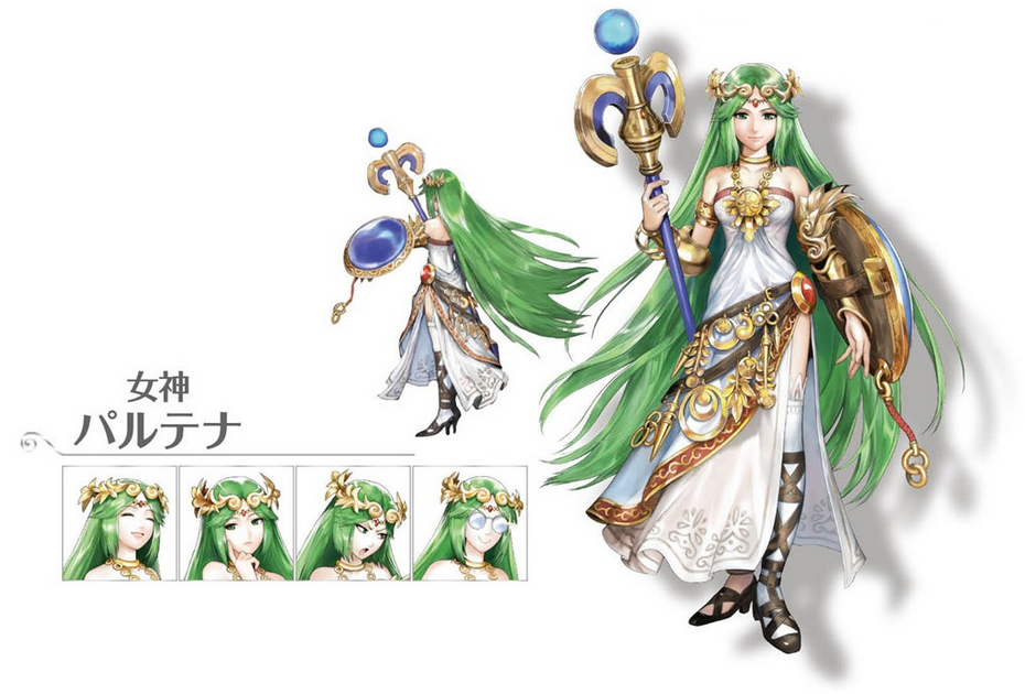 Physical Appearance Palutenaconceptart Concept Of Palutena From Uprising In The Original Kid Icarus