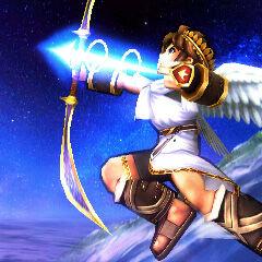 Pit usando la flecha de luz en Super Smash Bros. para Nintendo 3DS