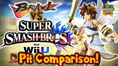 SMC Brawl vs. Smash Bros. Wii U - Pit Moveset & Model Comparison!