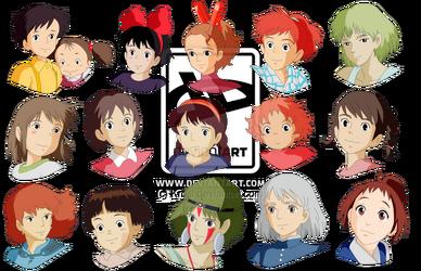 The Gang of Girls Studio Ghibli