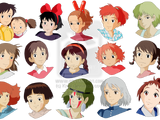 The Gang of Girls Studio Ghibli