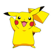 Pikachu, one of Ash Ketchum and Kids World's friends.