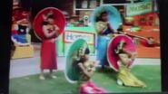 Barney umbrella dance