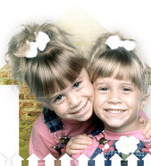 Mary-Kate and Ashley share the role of Michelle Tanner
