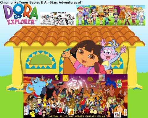 Image 500px Chipmunks Tunes Babies All Stars Adventures Of Dora