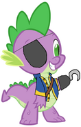 Spike in Pirate clothes