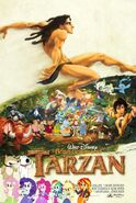 Brian Griffin and Tarzan poster