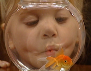 """Michelle and her goldfish in """"A Fish Called Martin"""" (1991)"""