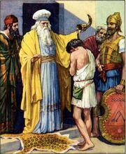 Samuel bringing god's message to a boy of bethlehem-1-