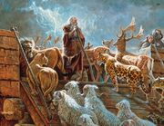 Noah and the ark with animals-2-