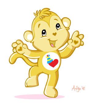 Playful Heart Monkey by posole
