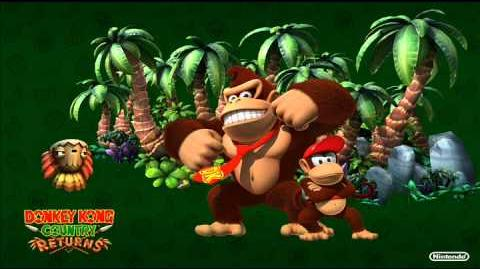 Donkey Kong Country Returns Music - Stormy Shore (The Cave)