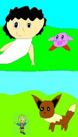 Mocha meets Kirby, Eevee meets Aeincha