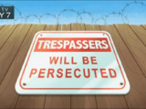 Trespassers Will Be Persecuted (Image Shop)