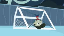 Kat's soccer net in Something About Fiona