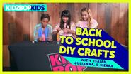 Back to School DIY Crafts with Isaiah, Julianna, and Sierra