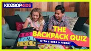 The Backpack Quiz with Sierra and Freddy