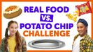 Real Food vs. Potato Chip Challenge with Isaiah & Liv