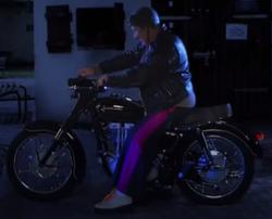 Ferdek na motocyklu