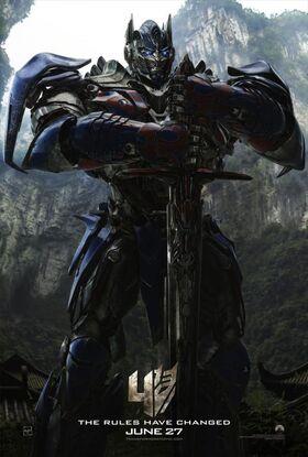 Transformers- Age of ExtinctionOptimusPrimePoster