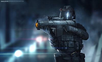 Concept futuristic soldier by badillafloyd-d78uo82