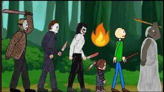 Jason Voorhees vs Michael Myers vs Jeff The Killer vs Chucky vs Baldi vs Granny - 2D Animo