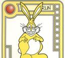 Yellow Gleeful Bunny
