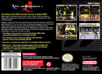 Killer Instinct Snes Back Cover