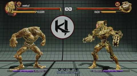 Killer Instinct Kilgore In game Rash Shin Hisako Eagle Gold skins