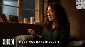 Meetings Have Biscuits Killing Eve Sunday at 9pm BBC America & AMC