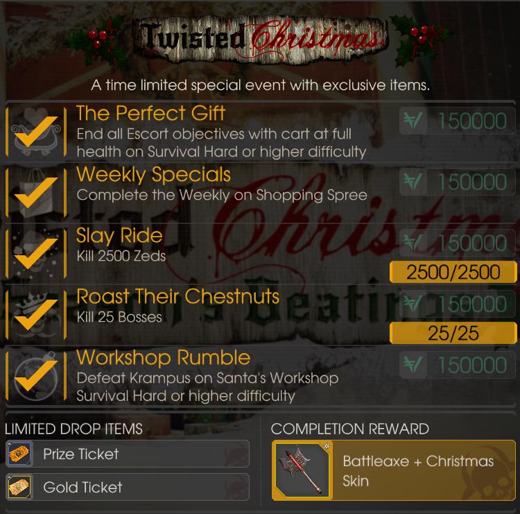 Killing Floor 2 Incursion: Battleaxe + Christmas Skin