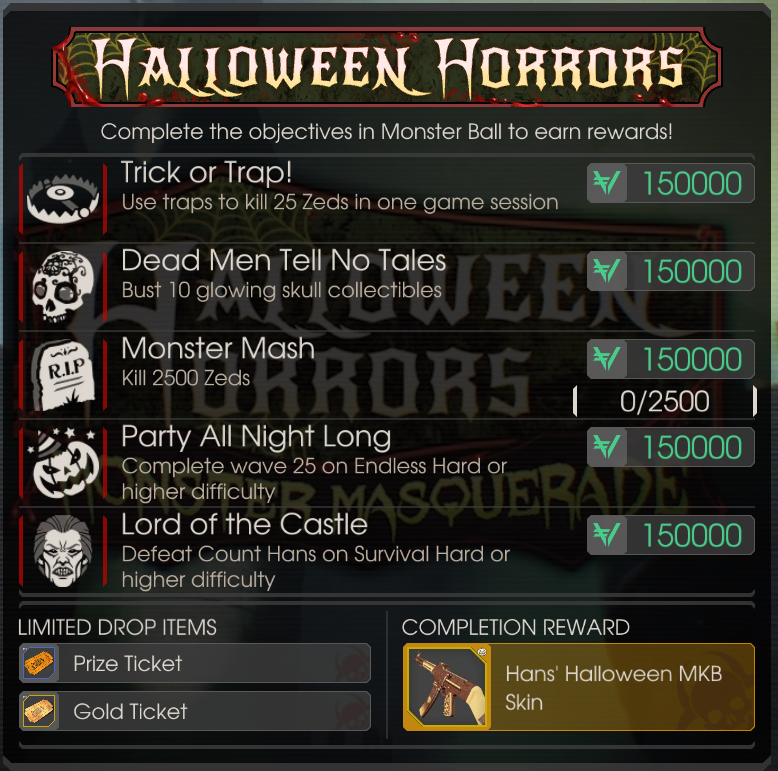 Killing Floor 2 Incursion: Hans' MKB Weapon + Halloween Skin