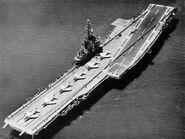 USS Ticonderoga (CVA-14) aerial view c1959
