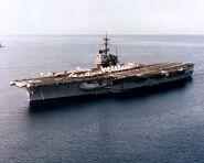 750px-USS Ranger (CV-61) aerial port bow view 1983