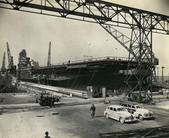 File:USS Kilroy (CVB-90) under construction (All Hands).jpg
