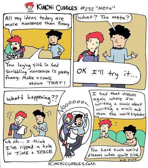 Kimchi Cuddles Comic 232 - Meta