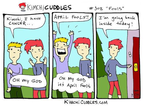 Kimchi Cuddles Comic 308 - Fools