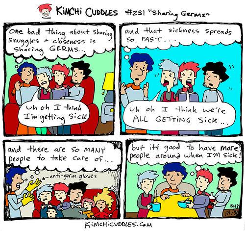 Kimchi Cuddles Comic 231 - Sharing Germs