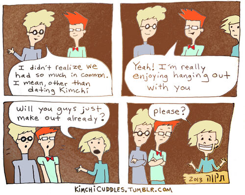 Kimchi Cuddles Comic 4 - Boys Making Out is Hot