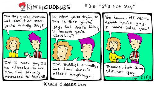 Kimchi Cuddles Comic 318 - Still Not Gay