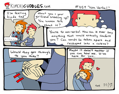 Kimchi Cuddles Comic 459 - Non Verbal