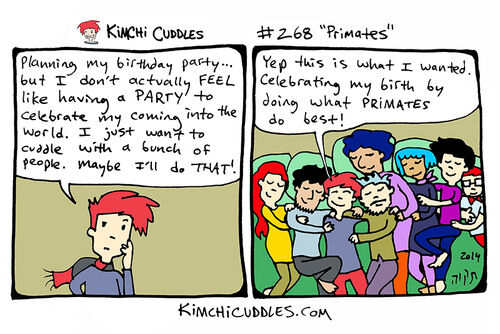 Kimchi Cuddles Comic 268 - Primates