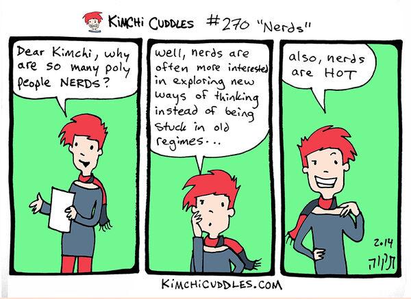 Kimchi Cuddles Comic 270 - Nerds