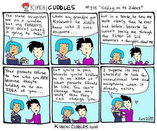 Kimchi Cuddles Comic 315 - Holding on to Ideas