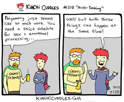 Kimchi Cuddles Comic 218 - Multi-Tasking