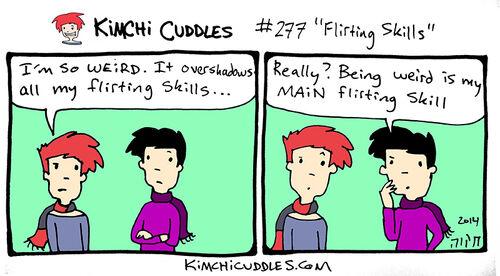 Kimchi Cuddles Comic 277 - Flirting Skills